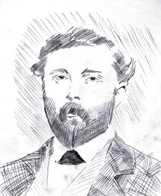 Kind of didn't pull off today's #Sketch Daily, so here's a doodle of Theodore Judah; unsung hero of the #Railroad