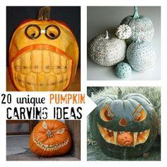 20 Unique Pumpkin Carving Ideas via @Jamie Dorobek {C.R.A.F.T.}
