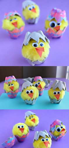 Fun & Easy Easter Crafts For Kids - FarmFoodFamily Egg Carton Crafts, Egg Crafts, Bunny Crafts, Craft Stick Crafts, Farm Crafts, Easter Crafts For Kids, Toddler Crafts, Easter Art, Easter Ideas