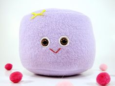 Mini Marshmallow Plush Toylovely and lilac by scrumptiousdelight