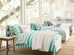 I love the PBteen Hampton Cottage Stripe Bedroom on pbteen.com
