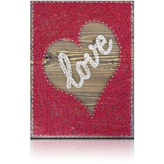 Inverted Red Heart-Love String Art Kit Great gift idea for those crafters you know. Or do-it-yourself for a friend. Beautiful new and creative designs for your home, office, or business. Materials: Th