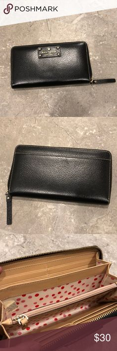 Kate Spade Wallet Excellent condition. Black zip around wallet. kate spade Bags Wallets