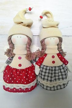 Fabric christmas ornaments doll Christmas Angel by JuliettaDoll