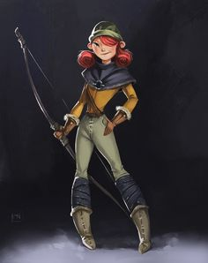 ArtStation - Archer Girl, Marina Nechaeva