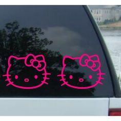 Adesivo carro Hello Kitty