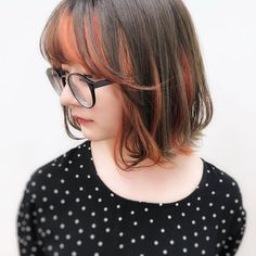Messy Hairstyles, Pretty Hairstyles, Short Hair Cuts, Short Hair Styles, Two Color Hair, Cabello Hair, Hair Streaks, Heart Hair, Haircut And Color