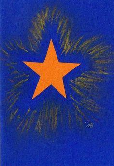 60 Stern Bunt, Xmas Cards, Sterne, Creative