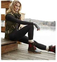 Stay comfy in our soft, womens stretch pants or stretch tops. Shop stretch pants, stretch tops, womens black leggings, or womens Softwear by Cuddl Duds. Leggings Sale, Best Leggings, Black Leggings, Cold Weather Outfits, Fall Winter Outfits, Winter Style, Cute Hiking Outfit, Cuddle Duds, Stretch Pants