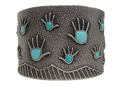 Darryl Dean Begay – Healing Hand Tufa Cuff – Native Art