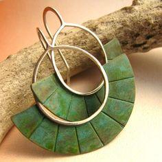 Verdigris earrings, $44