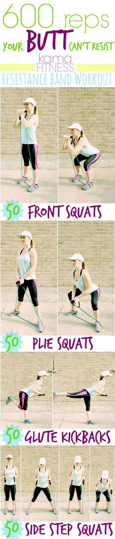 600 Reps your Butt can't Resist {Resistance Band Workout} by Kama Fitness