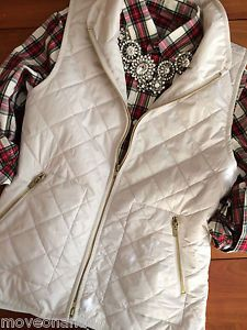 Quilted Vest & Flannel With Statement Necklace