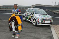 The Chronicles of Ndebele Artist Esther Mahlangu - Afro Art MediaAfro Art Media Esther, Tracey Emin, South African Artists, Africa Art, Arts Ed, African Design, Aboriginal Art, Fiat 500, Car Girls