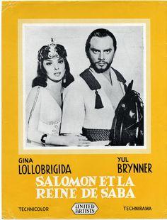 Salomon ET LA Reine DE Saaba YUL Brynner Gina Lollobrigida Plaquette 1959 | eBay