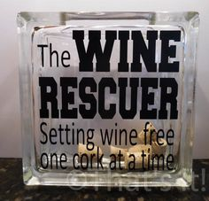 wine cork holder glass block cork collector the by ThatsItforLess