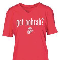 Ladies Vneck Got Oohrah T-Shirt