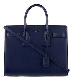 SAINT LAURENT Sac De Jour small leather shoulder bag (Blue Saint Laurent  Handbags 545babe187d04