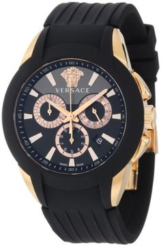 Versace Men's M8C80D008 S009 Character Rose Gold Ion-Plated Stainless Steel Chronograph Date Watch
