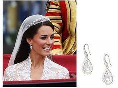 Pear stone droplet diamond earrings - Kate Middleton