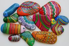 Painted Pebbles and stones