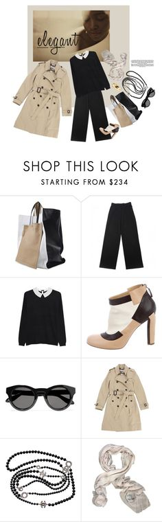 """for my friend b. a lady with class."" by gabrielleleroy ❤ liked on Polyvore featuring 3.1 Phillip Lim, Yves Saint Laurent, Steffen Schraut, Chanel, Givenchy, Burberry and statementbags"