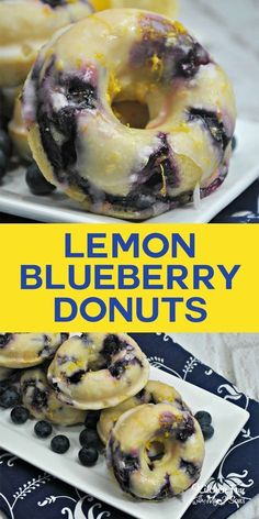 Blueberry Lemon Donuts. Delicious homemade donut recipe with blueberries and fresh lemon. #donuts #lemon #blueberry #food #foodblogger #yummy