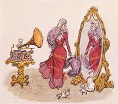 "Visual development sketch for Disney's ""Aristocats"" by Ken Anderson. #disney #fanart #disneyfanart"