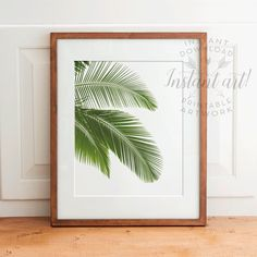 Palm leaf print PRINTABLE arttropical by TheCrownPrints on Etsy