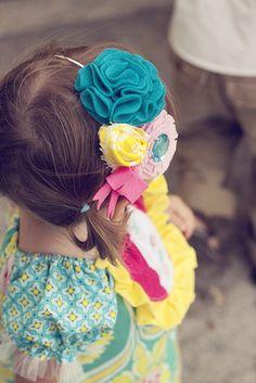 Headband cloth flowers DIY