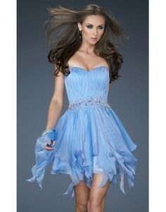 La Femme 17544 Homecoming Dress Periwinkle Sale