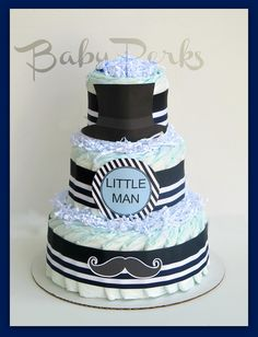Classic Top hat little man Diaper cake   https://www.etsy.com/shop/MsPerks