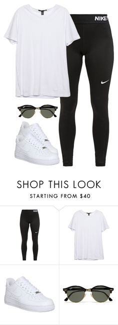 """Sin título #727"" by karlamichell ❤ liked on Polyvore featuring NIKE and Ray-Ban"