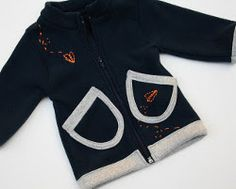 Jessica from Me Sew Crazy shows how to make her Flying High Fleece Jacket. The snuggly warm fleece jacket is embellished with hand-embroidered paper airplane motifs. Fleece Projects, Sewing Projects For Kids, Sewing For Kids, Baby Sewing, Sewing Ideas, Free Sewing, Sewing Men, Sewing Clothes, Sewing Crafts
