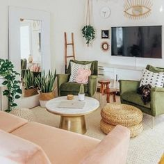 Home Furniture 67830 Sofa living room design ideas. With 21 various living room ideas you will certainly be motivated to make refined upgrades to your own area or discover dynamic modern living room decoration ideas that will certainly enchant guests. Large Living Room Furniture, Boho Living Room, Home Furniture, Living Area, Green Furniture, Blush Living Room, Furniture Chairs, Bedroom Furniture, Furniture Plans