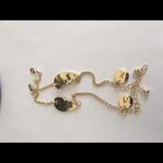 Initial partner in crime bracelet Gold plated  Add your initials   Choose from A to Z Jewelry Bracelets