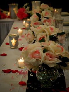 Candles and flowers Arrangement