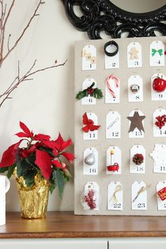 The Wood Grain Cottage - Advent Countdown - one of the cutest I've ever seen!