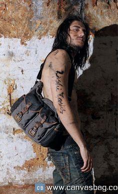 Military Messenger Bag, Vintage Messenger Bag, Canvas Messenger Bag, Canvas Leather, Leather Bags, Mens Travel Bag, Men Street, Canvas Shoulder Bag, Hot Guys