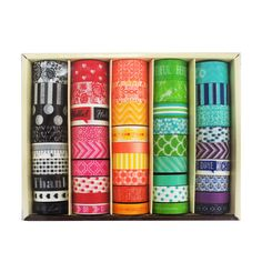 Buy the Planner Washi Tape Box By Recollections™ at Michaels.com. Create beautiful trims for your papercraft projects using these washi tapes by Recollections.