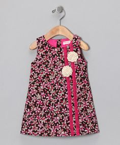 Take a look at this Brown Floral Daisy Dress - Infant, Toddler & Girls by Dolce Girl on #zulily today!