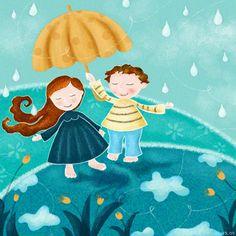 walking in the rain by *libelle on deviantART
