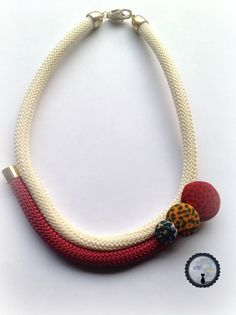 Braided cord Necklace by 2MoonsintheSky on Etsy