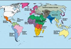 WORLD Geographical Subregions