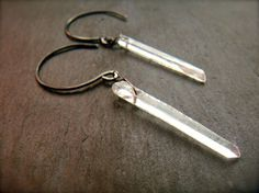 Crystal quartz earrings. For more follow www.pinterest.com/ninayay and stay positively #pinspired #pinspire @ninayay