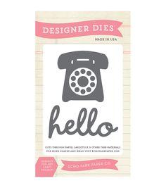 Echo Park Paper Company Phone Home Dies