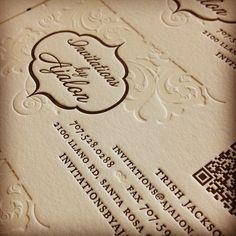 Have you called Trish for your #letterpress #weddinginvitation consultation? Lets start planning!