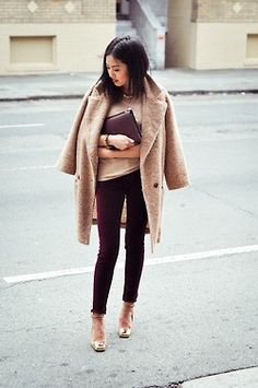 Always wear a slim silhouette on the bottom when wearing an oversized coat, this will create a balanced look. www.stylestaples.com.au