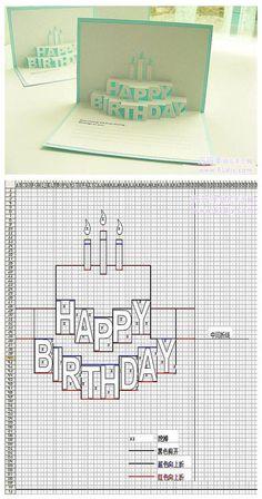 立体生日卡片制作 - 堆糖 发现生活_收集美好_分享图片