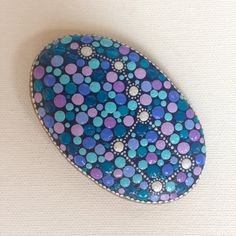 Constellation Big Dipper Painted Stone Decoration Painted rock Beachstone Adriatic Colourful Vibrant Dotart Stars